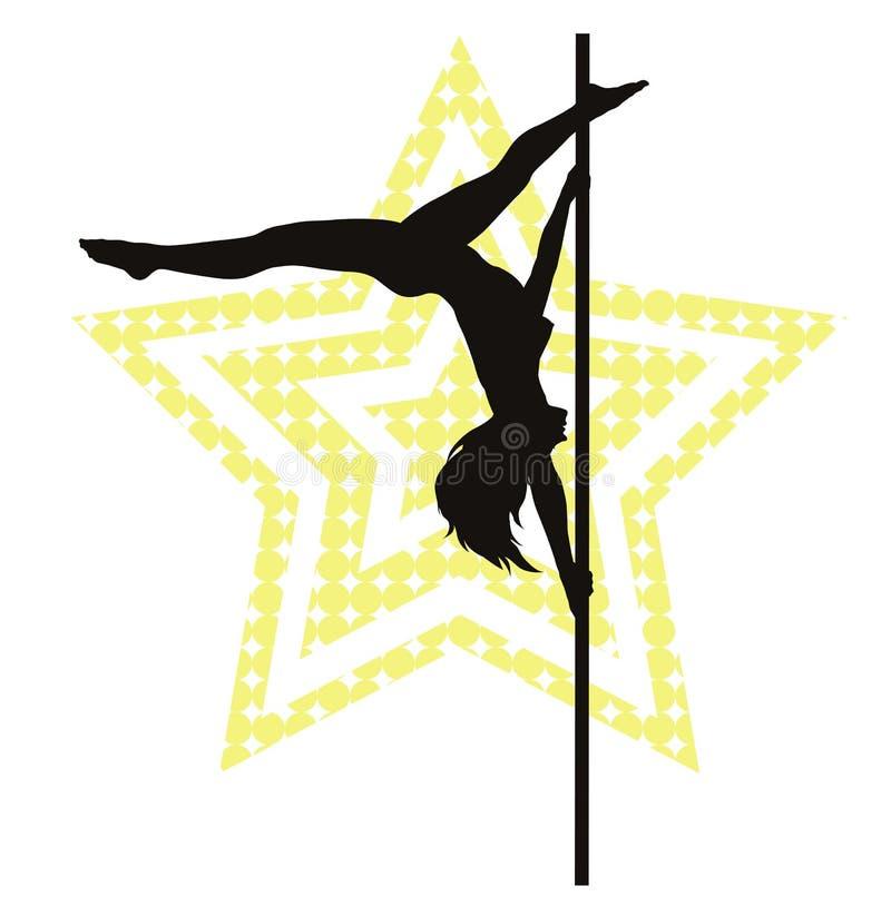 Pole dancer royalty free illustration