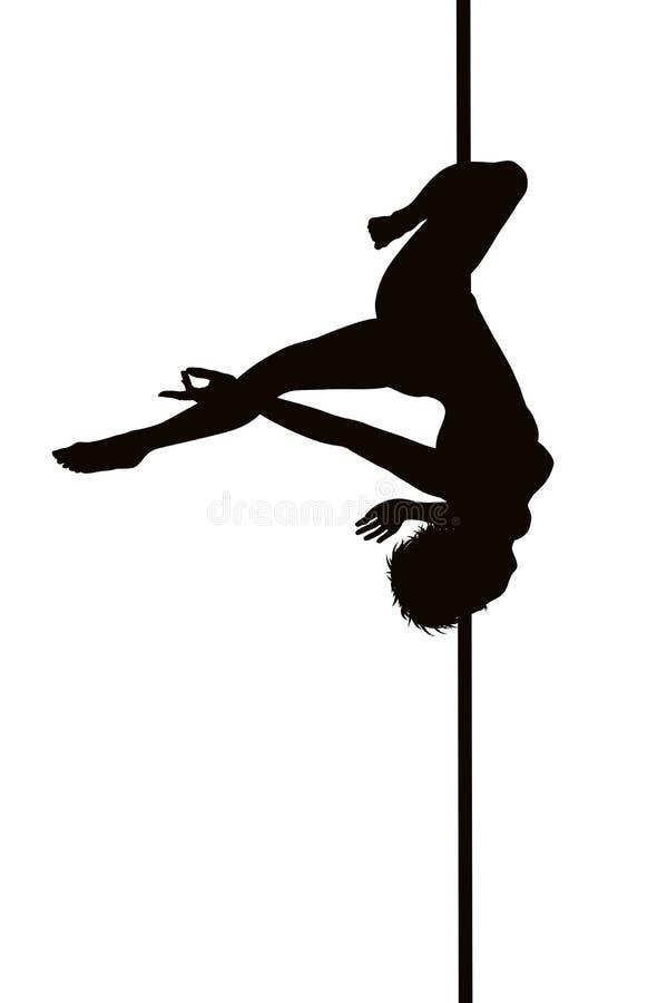 Pole dancer stock illustration