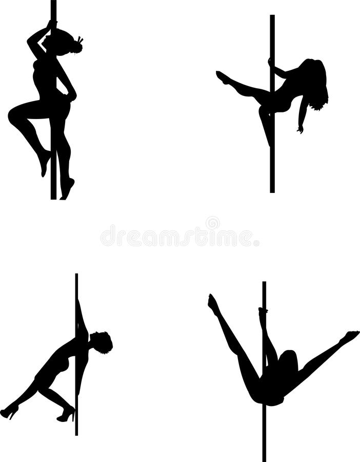 Pole Dancers Royalty Free Stock Photo