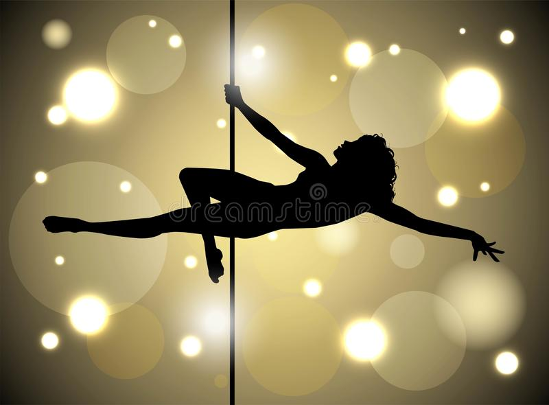 pole dancing vector illustration