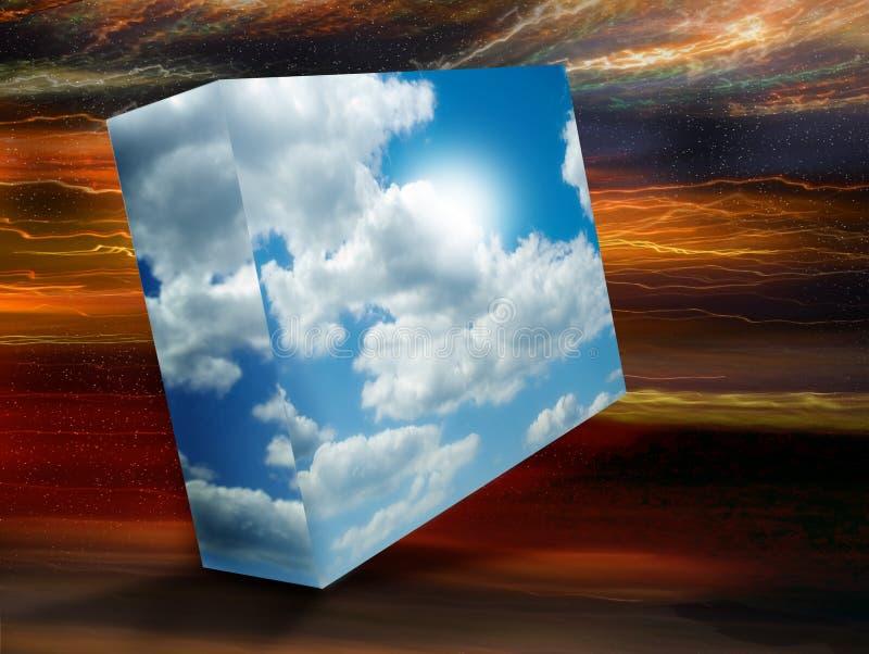 pole do nieba royalty ilustracja