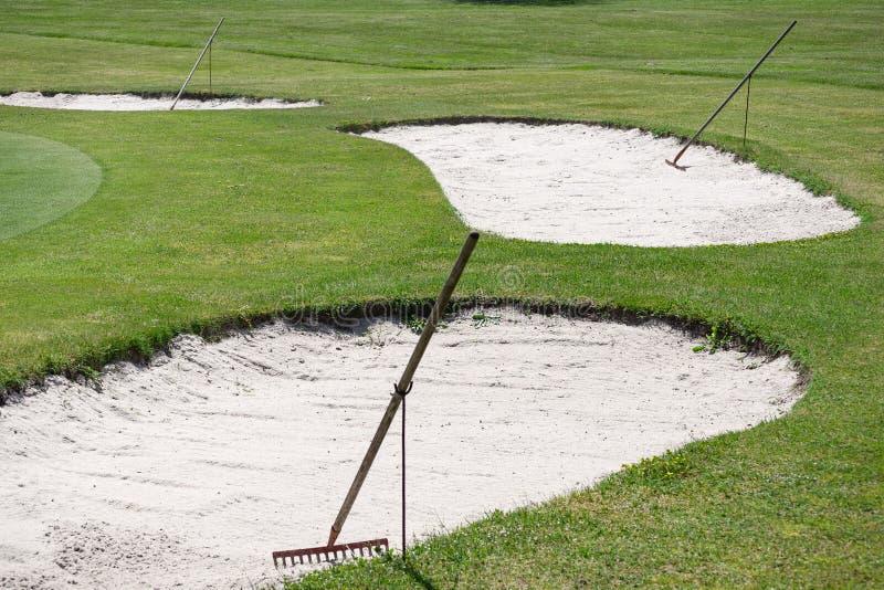Pole golfowe piaska bunkieru świntuch obrazy stock