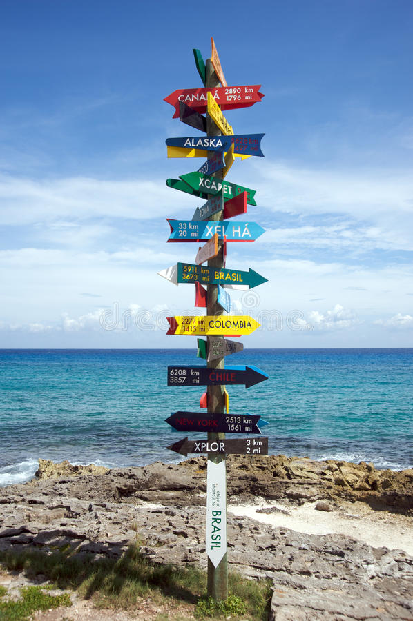 Download Pole indicating directions stock photo. Image of caribbean - 16642998