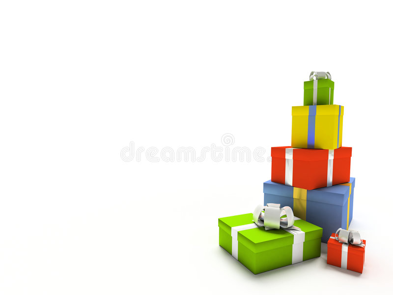 pole kolor tła prezentu white ilustracja wektor