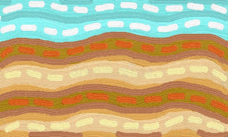 Pole kolor ziemia royalty ilustracja