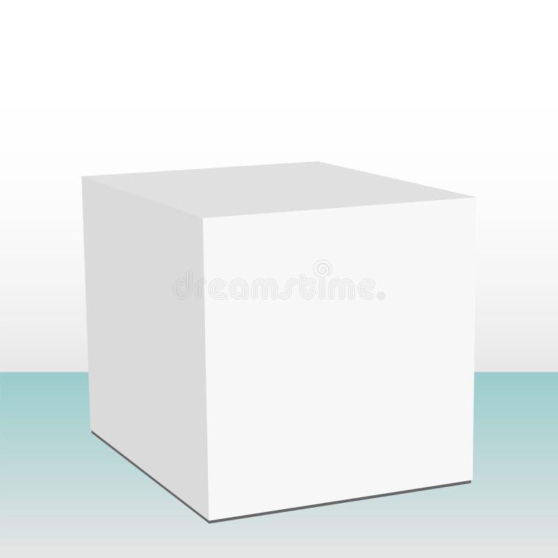 pole kubiczny 3 d ilustracja wektor