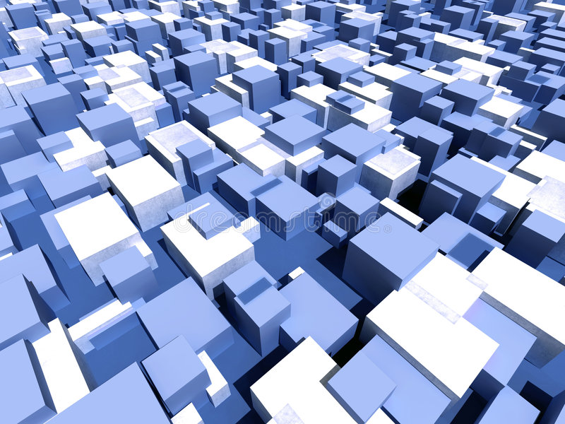 pole kubiczny miejskie ilustracja wektor