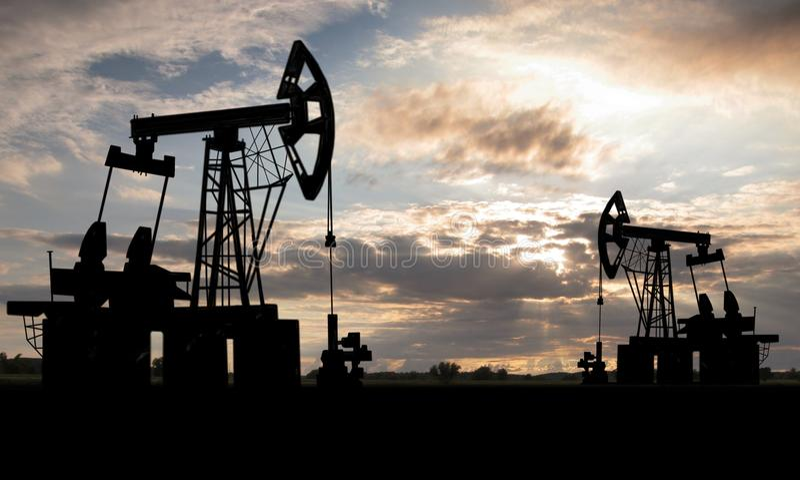 Pole naftowe obrazy stock