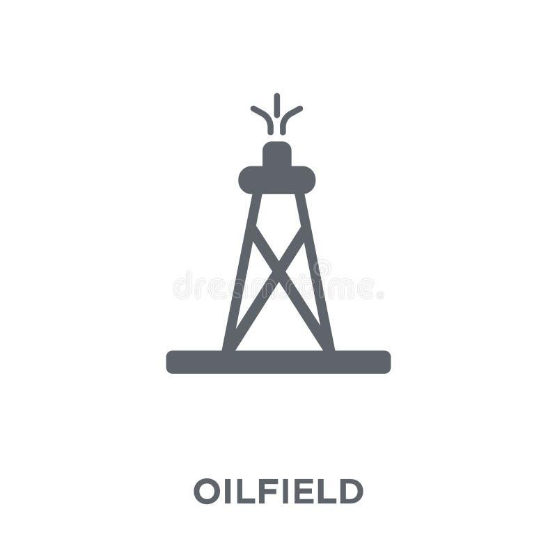 Pole naftowe ikona od kolekcji ilustracji