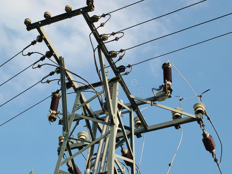 Download Pole power lines stock image. Image of column, industry - 41805585
