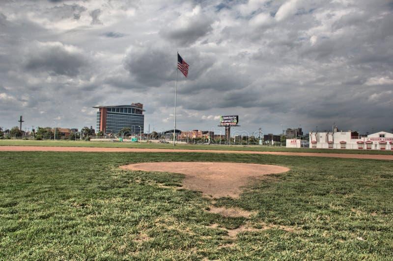 Pole przy tiger stadium w Detroit Michigan obraz stock