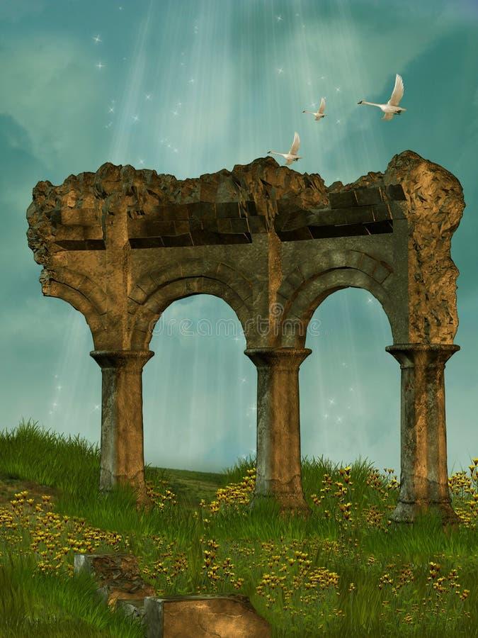 pole ruiny obraz stock