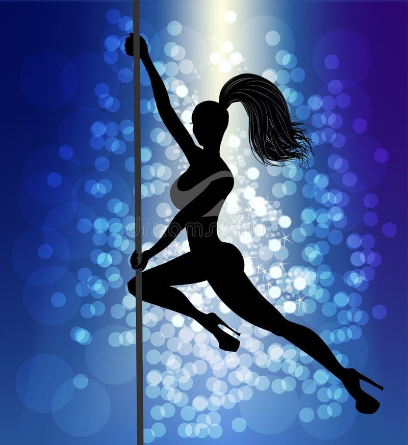Pole-Tänzer lizenzfreie abbildung