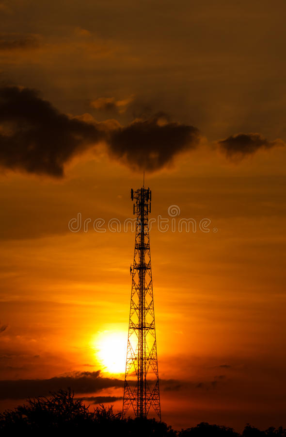 pole telecoms royalty free stock photo