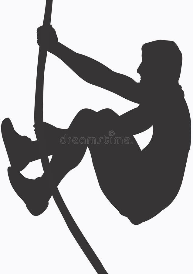 Pole vaulter royalty free illustration