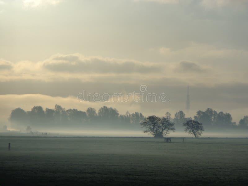 Pole w mgle zdjęcia royalty free