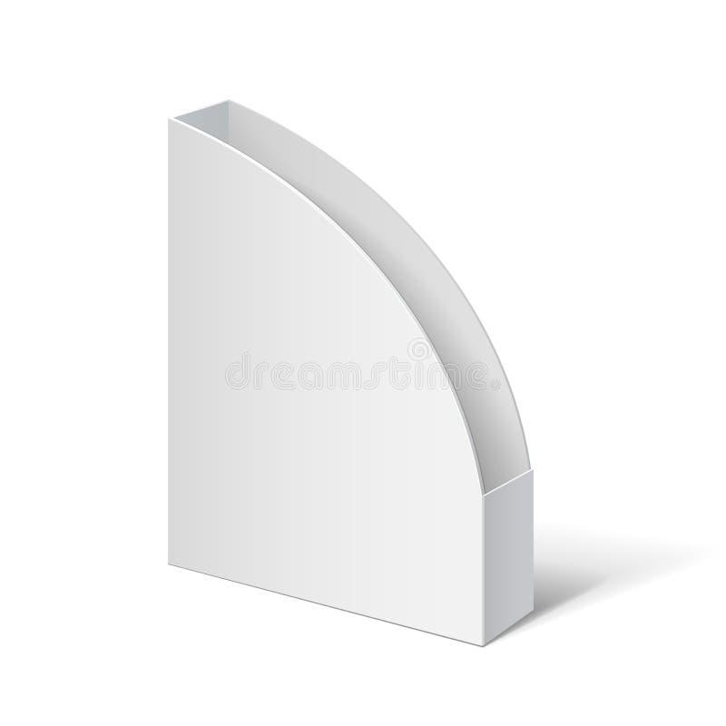 pole white Kartonowy właściciel dla broszurek i ulotek ilustracja wektor
