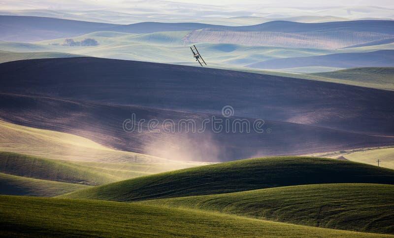Pole wiejskiego gospodarstwa rolnego fotografia stock