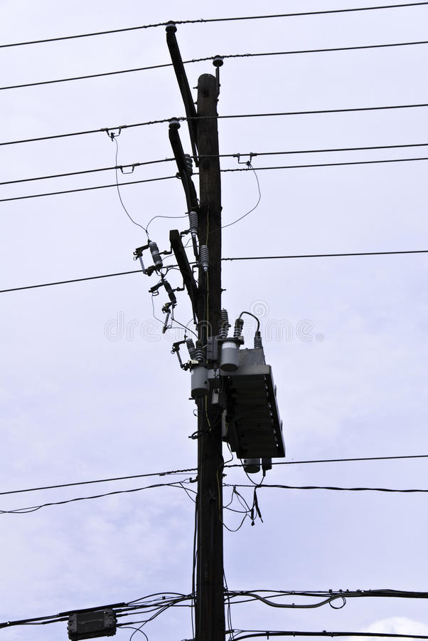 Download Pole and Wires stock image. Image of poles, blue, technology - 23293237