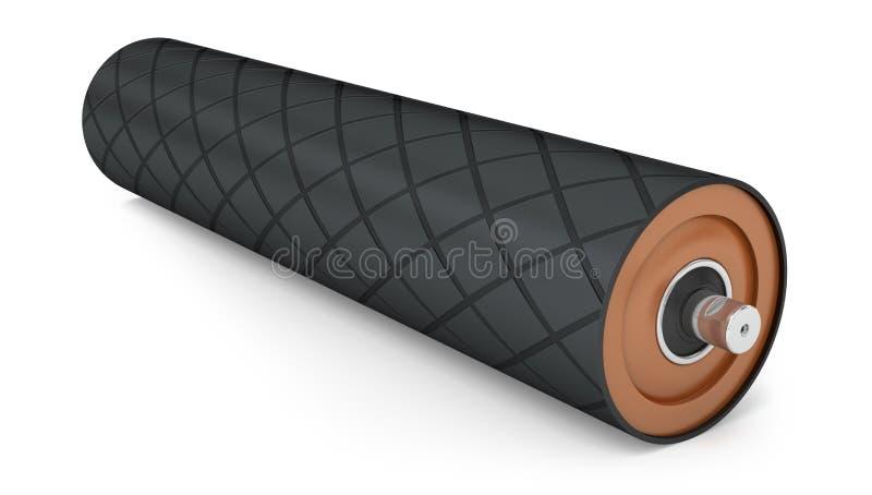 Polea de goma para el transportador del tambor ilustración del vector