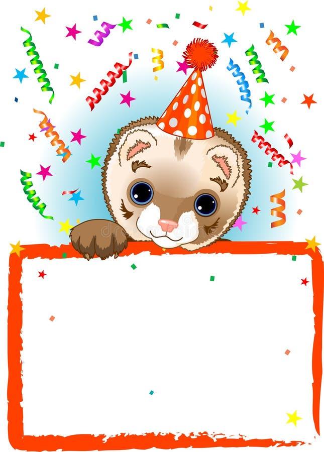 Polecat Birthday stock illustration