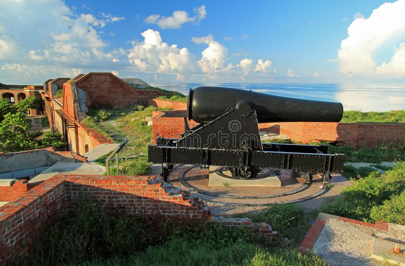 Polegada Rodman Artillery Piece de Jefferson 15 do forte foto de stock royalty free