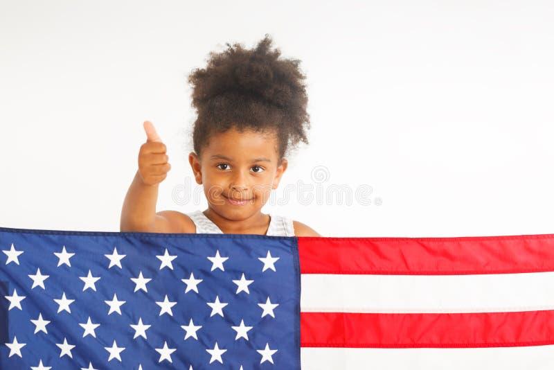 Polegar americano acima foto de stock