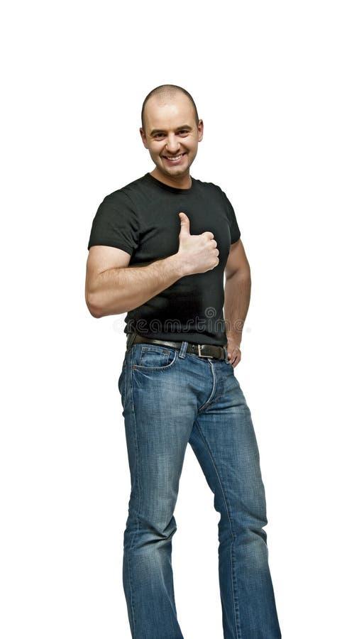 Download Polegar Positivo Do Homem Acima Imagem de Stock - Imagem de pessoa, homem: 12810775