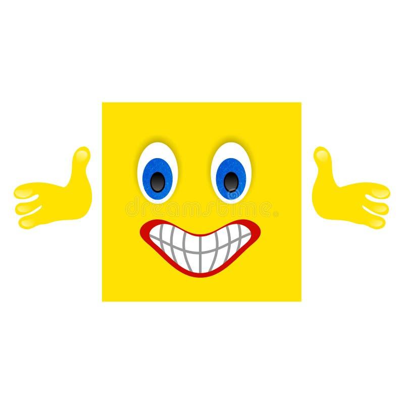 Polegares acima do emoji do emoticon com fundo branco ilustração royalty free