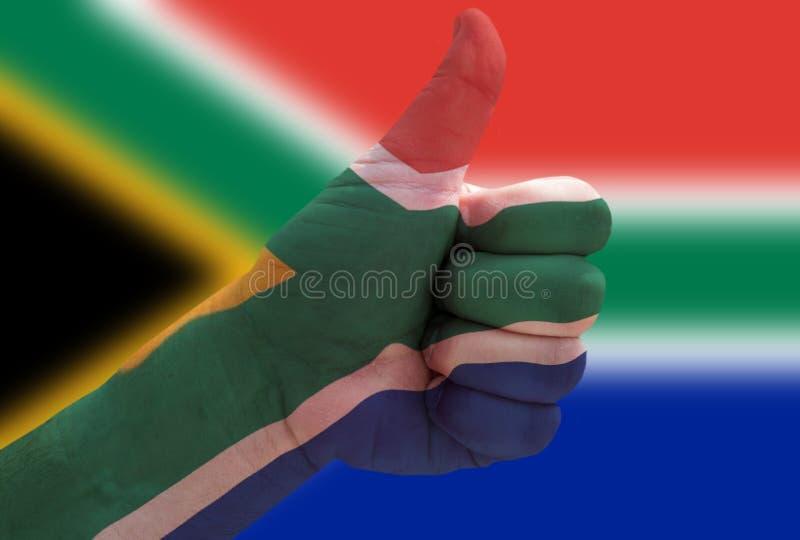 Polegares acima para África do Sul imagem de stock