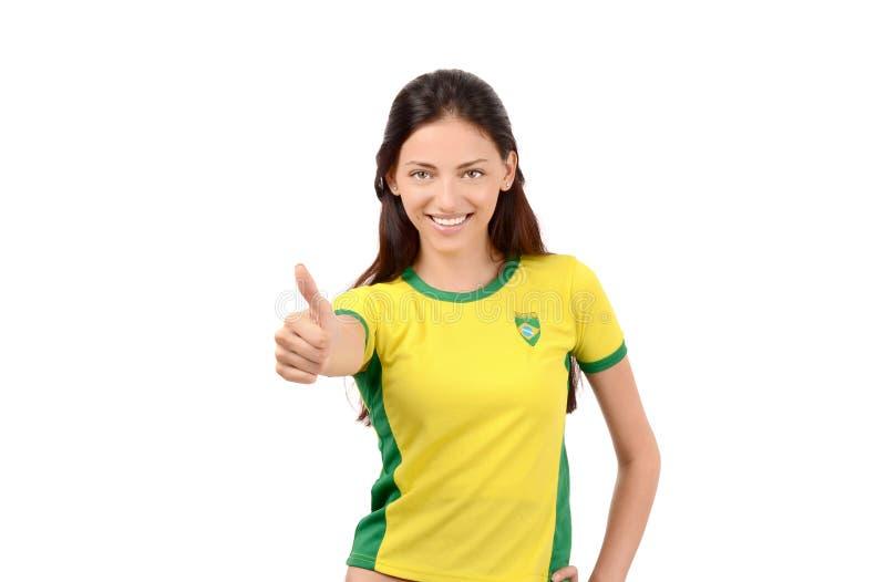 Polegares acima para Brasil imagens de stock