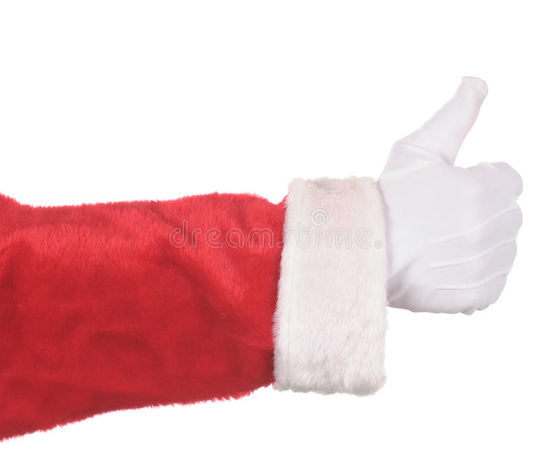Polegares de Papai Noel acima imagens de stock royalty free