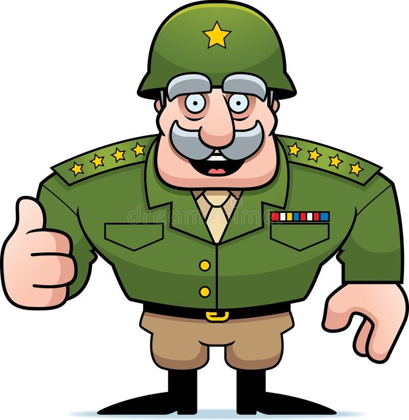 Polegares gerais militares dos desenhos animados acima ilustração royalty free