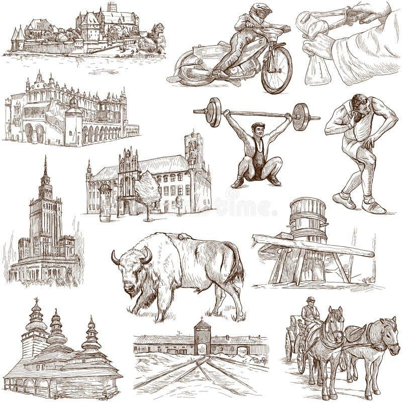 Polen vektor illustrationer