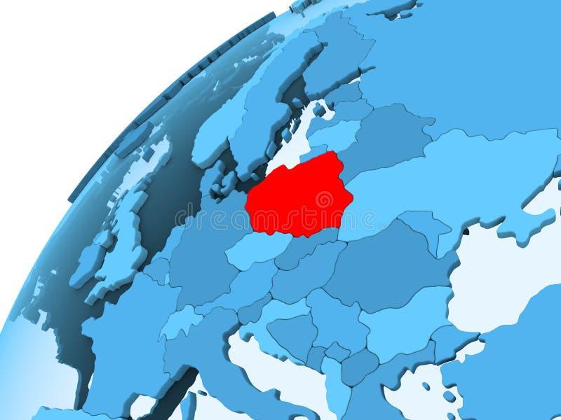 Polen auf blauer Kugel vektor abbildung