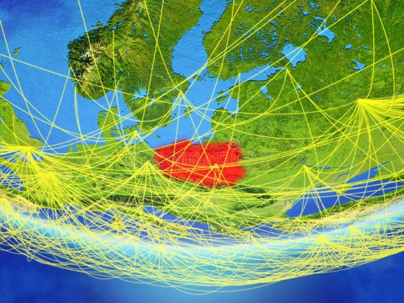 Polen auf Erde mit Netz vektor abbildung