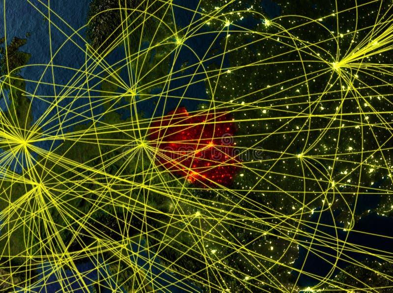 Polen auf Erde mit Netzen stock abbildung