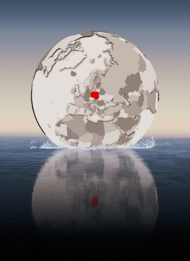 Polen auf Kugel im Wasser vektor abbildung