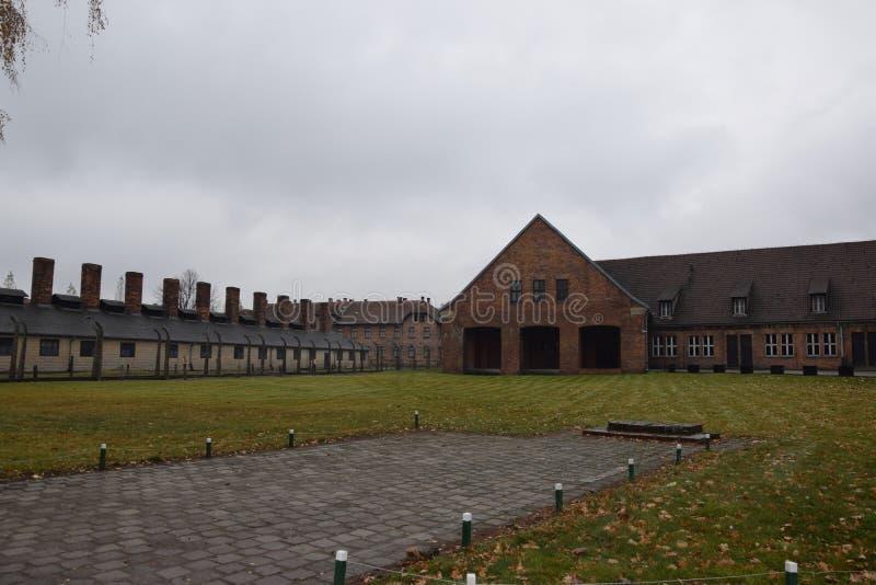 Polen Auschwitz koncentrationsläger royaltyfri bild