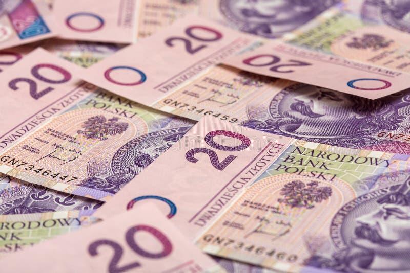 Polen-Bargeld lizenzfreie stockbilder