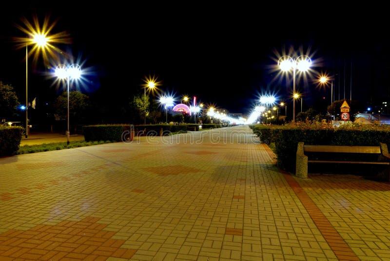 Polen boulevar Gdynia stock afbeelding