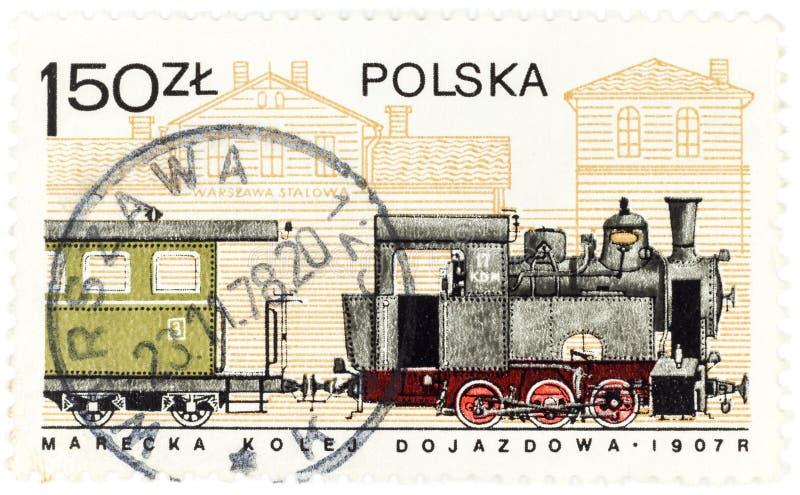 POLEN - CIRCA der a-Briefmarke 1978, die in Polen gedruckt wird, zeigt den alten polnischen Zug ab 1907, circa 1978 stockfotos