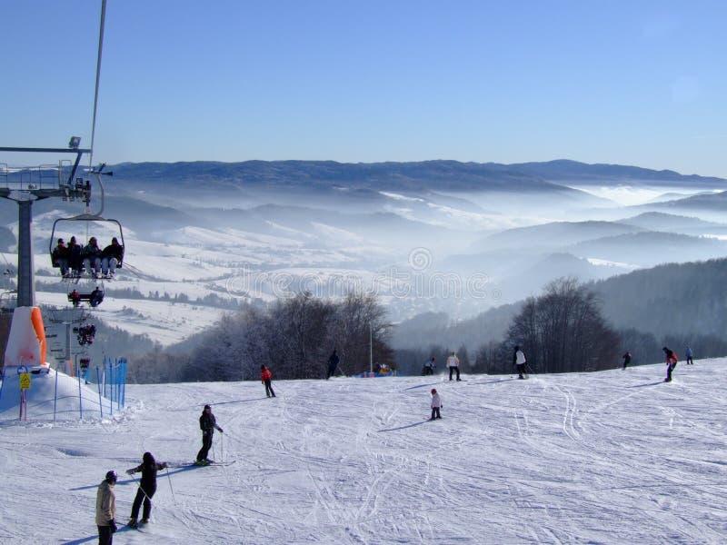 Polen, de winter stock fotografie