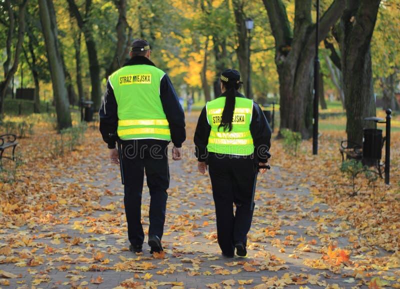 Polen den kommunala polisen, StraÅ ¼ Miejska royaltyfria bilder