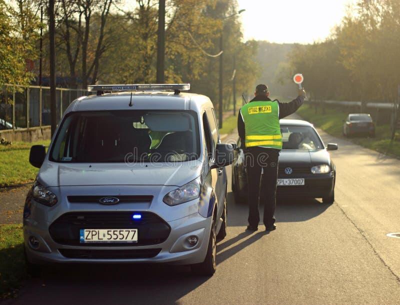 Polen den kommunala polisen, StraÅ ¼ Miejska royaltyfri foto