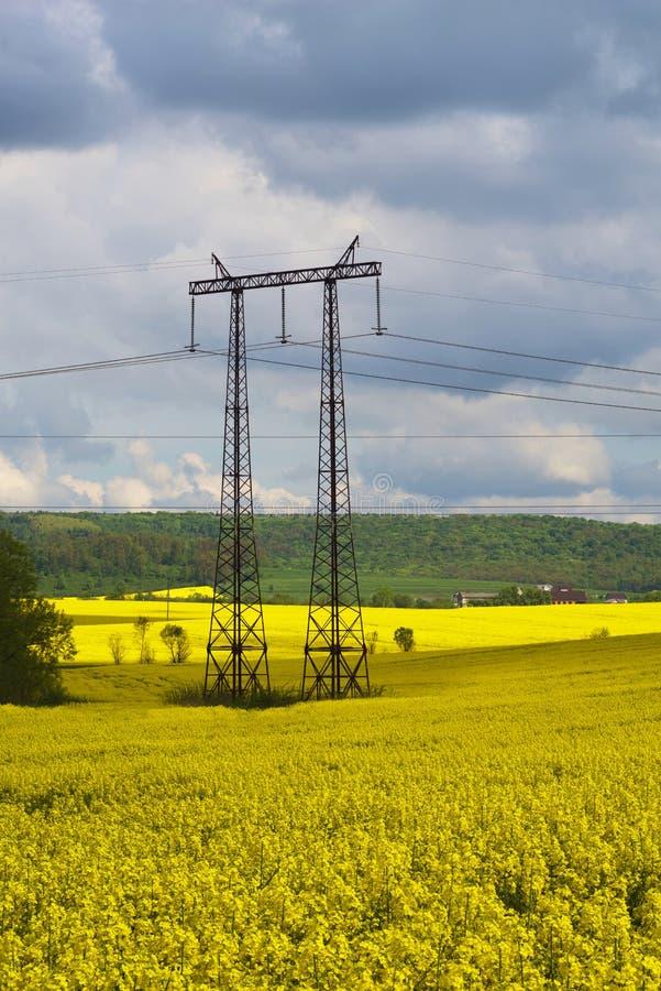 Polen elektrisch in verkrachting royalty-vrije stock foto