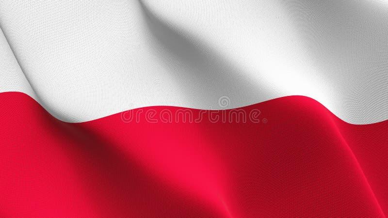 Polen fahnenschwenkend auf Wind stock abbildung