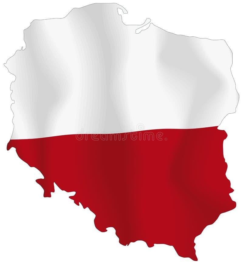 Polen flagga vektor illustrationer