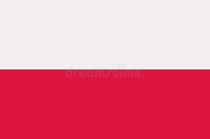 Polen flaggavektor vektor illustrationer