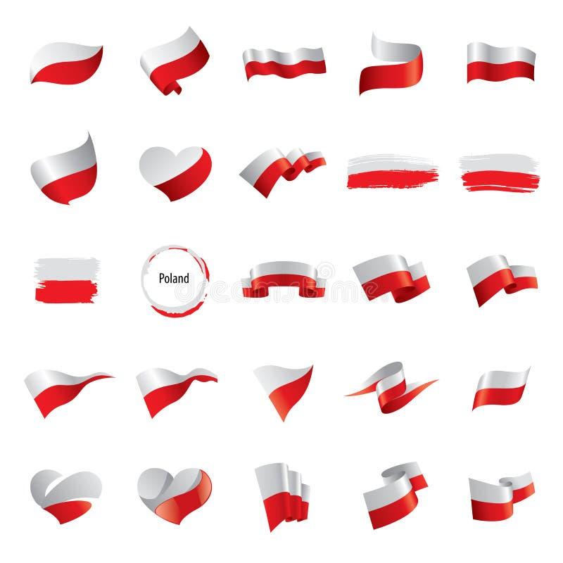 Polen-Flagge, Vektorillustration stock abbildung